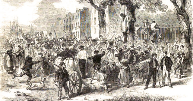 the new york city draft riots The new york city draft riots lasted from monday july 13, 1863 to july 17, 1863 these four days of looting, lynching, and arson had a death toll of 119.